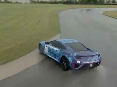 Prototype de la Honda Acura NSX sur circuit