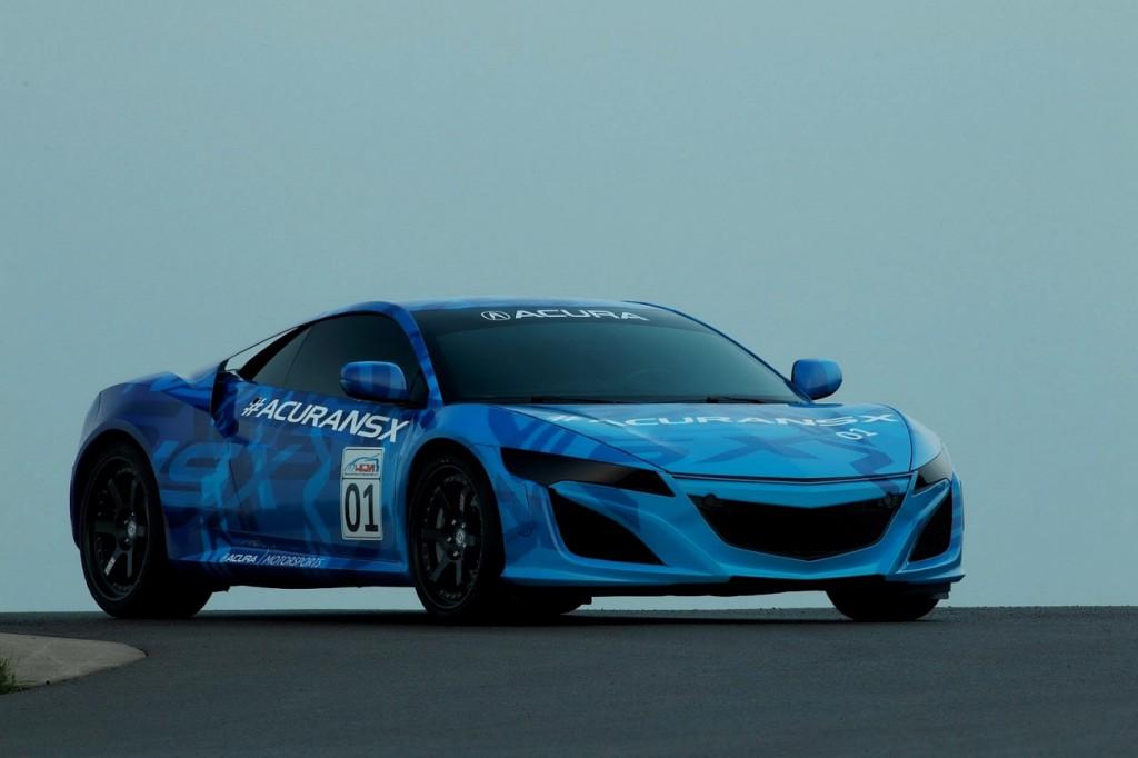 Honda Acura NSX 2014 sur le circuit de Mid Ohio