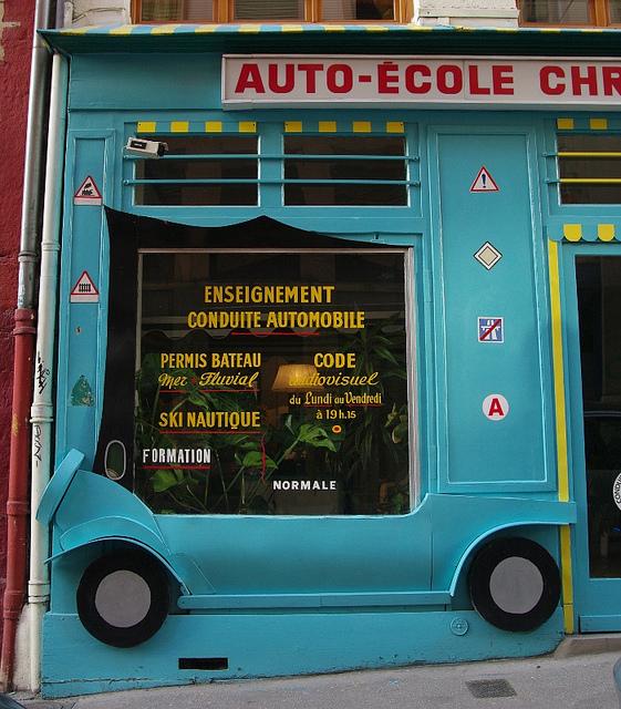 affichage auto école