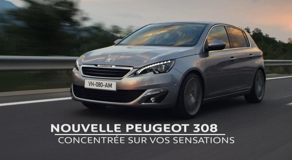 spot publicitaire de la nouvelle peugeot 308 blog auto. Black Bedroom Furniture Sets. Home Design Ideas