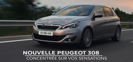 Pub de la nouvelle Peugeot 308 : Concentrée sur vos sensations