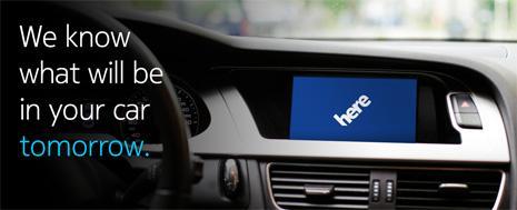 Le teaser de Nokia sur HERE Auto