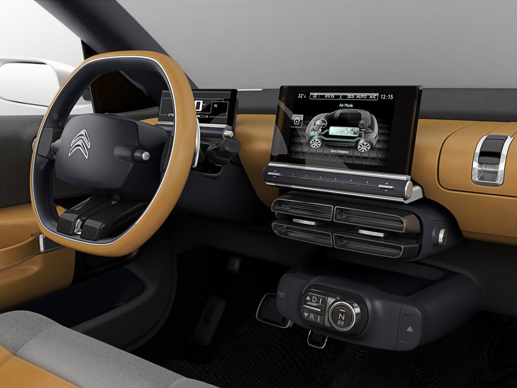 Intérieur de la Citroën Cactus Concept 2013
