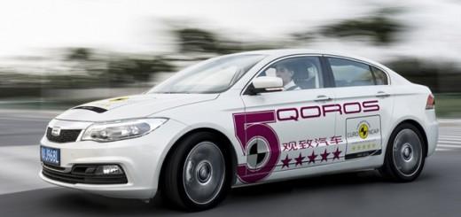 La Qoros 3 Sedan a obtenu 5 étoile au crash test EuroNCAP