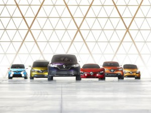 Les concept-cars Cycle de la vie Renault : DeZir, R-Space, Captur, Frendzy, Twin'run et Initiale Paris