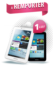 "Gagner une Galaxy Tab 2 7"" Samsung avec Auto-selection.com"