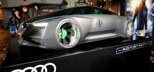 Première de Ender's Game : modèle réduit de l' Audi fleet shuttle