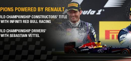 Renault Sport F1 champion Constructeur 2013