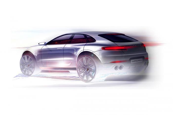 Esquisse de la Porsche Macan pour le Salon de Los Angeles 2013