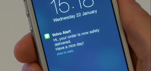 Le Volvo on call prévient des livraisons faites dans votre Volvo