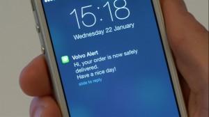 Application Volvo pour être averti de la livraison dans votre Volvo