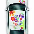 Volkswagen coccinelle 2014_vue_dessus_art_flowerpower_bd