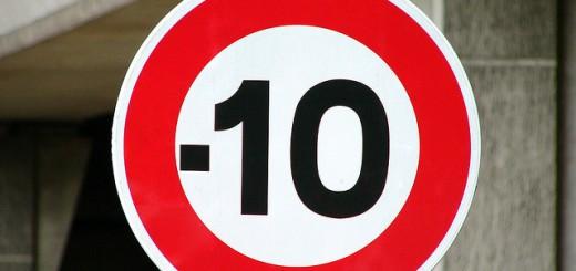 baisse de 10 kmh vitesse route france
