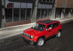 jeep renegade 2015 - vue dessus
