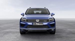 face avant nouveau Volkswagen touareg 2014