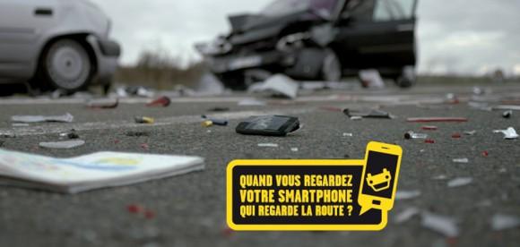 Accident téléphone volant radio