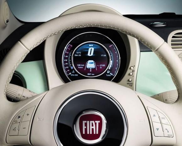 Fiat 500 Club tableau de bord