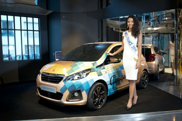 Miss France Peugeot 108 Tattoo