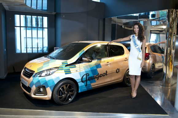 Miss France 2014 Peugeot 108 Tattoo