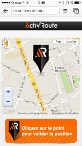 Activ'route application