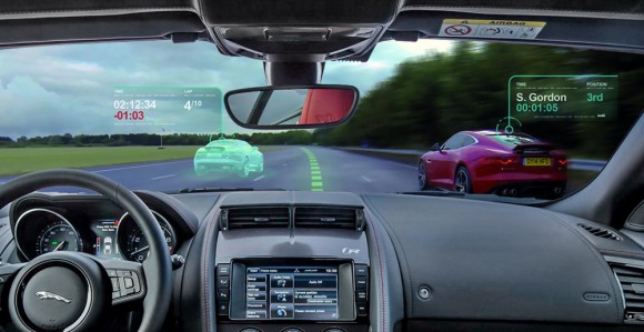 Jaguar Virtual windscreen pare brise virtuel
