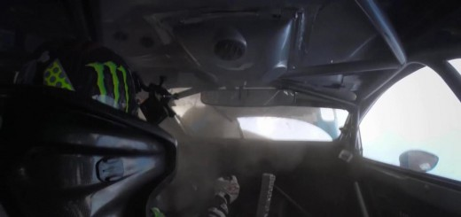 Ken Block accident rallycross