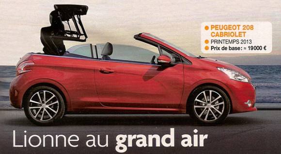 Peugeot 208 cabriolet nouveauté 2015