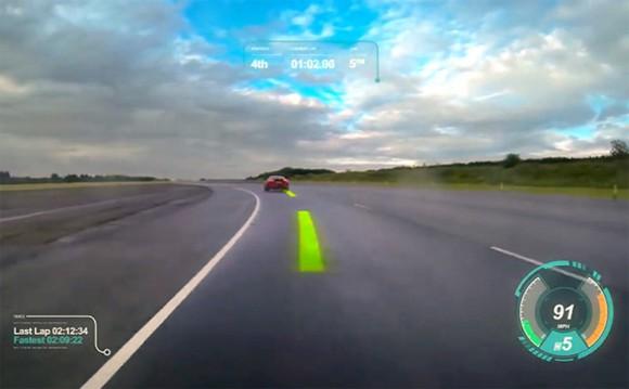 Virtual Windscreen Jaguar pare brise virtuel
