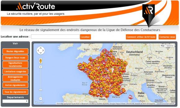 carte Activ route