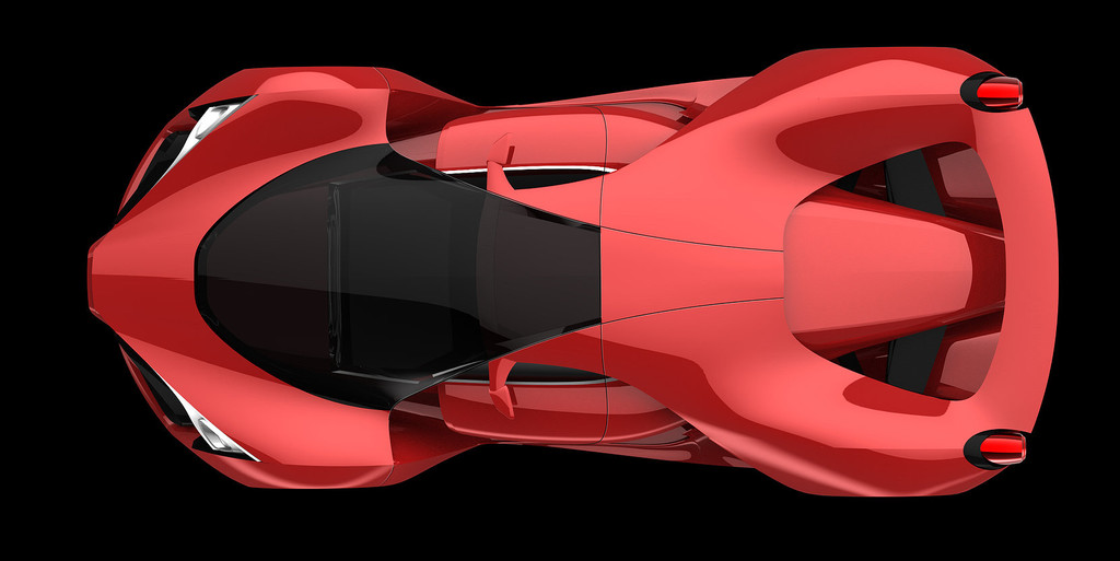 Ferrari f80 concept interior