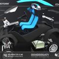 Les 40 composants de la Strati, la voiture imprimée en 3D