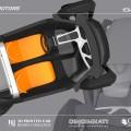 La voiture imprimée en 3D vue de haut