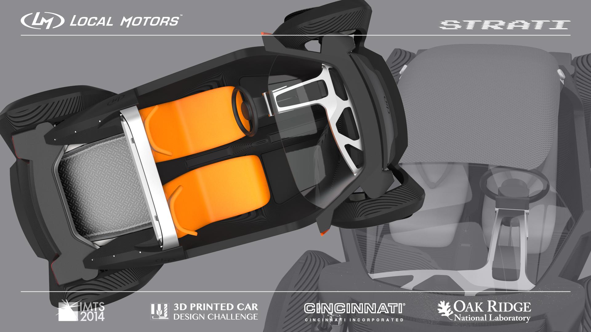 Strati la voiture imprim e en 3d vue de haut blog auto s lection le condens d 39 actu - Voiture vue de haut ...