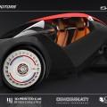 Photo du Strati, la voiture réalisée avec une imprimante en 3D
