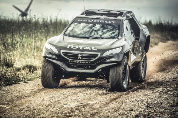 Le 2008 DKR Peugeot.
