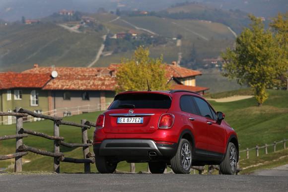 Fiat 500X 4X4 vue arriere