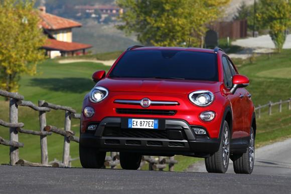 Fiat 500X 4X4 vue avant calandre