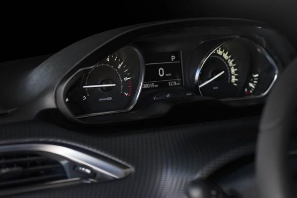 L'intérieur de la nouvelle 208 Peugeot.