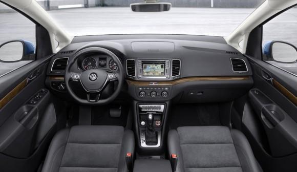 Nouveau Volkswagen Sharan 2015 planche de bord interieur