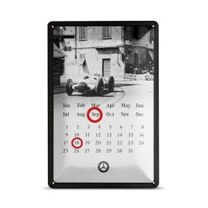 Plaque métallique calendrier Mercedes