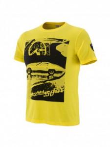 Tshirt jaune homme cadeau St Valentin Lamborghini vintage