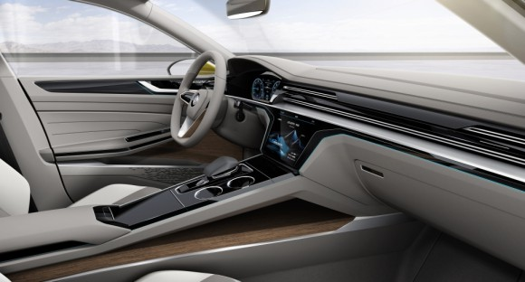 cockpit Volkswagen Sports Coupe concept Geneve 2015 (5)