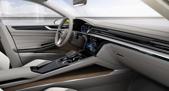 cockpit Volkswagen Sports Coupe concept Geneve 2015 (5)