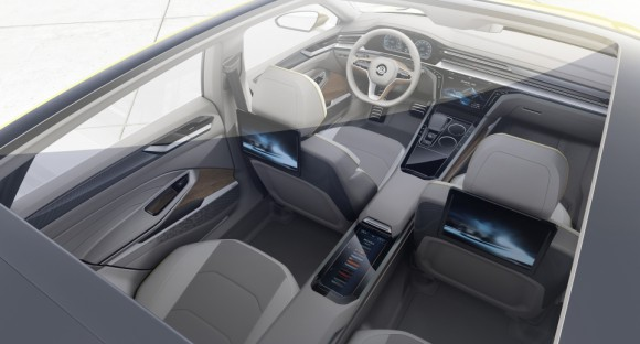 toit panoramique Volkswagen Sports Coupe concept Geneve 2015 (5)