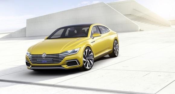 vue avant Volkswagen Sports Coupe concept Geneve 2015 (5)