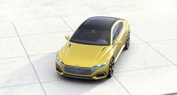 toit vue haut Volkswagen Sports Coupe concept Geneve 2015 (5)