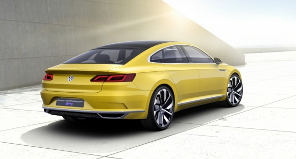 vue arriere Volkswagen Sports Coupe concept Geneve 2015 (5)