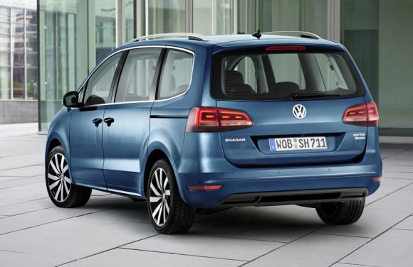 Vue arriere Nouveau Volkswagen Sharan 2015