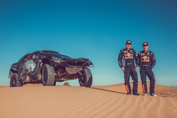 rallye maroc team peugeot sainz loeb photo (1)