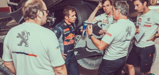 rallye maroc team peugeot sainz loeb photo (3)